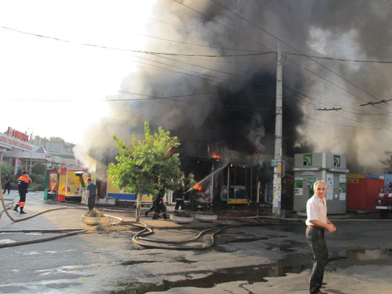 По предварительным данным пожар на Московской начался с банкомата
