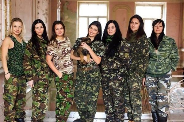 Русские девушки в камуфляже
