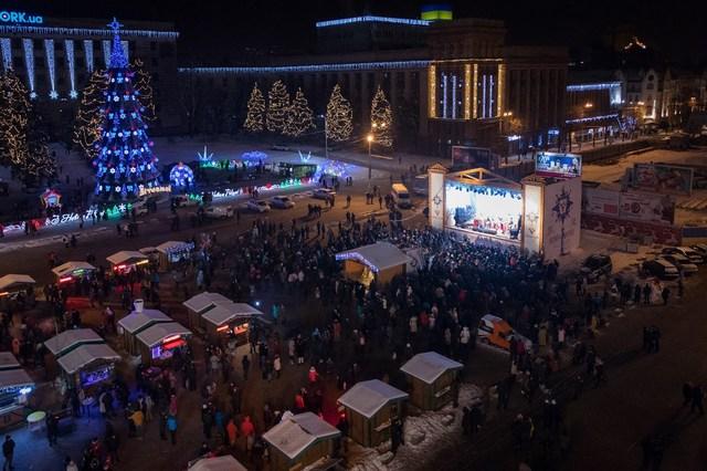 На этнофестивале «Країна Мрій різдвяна» в Днепре спел его основатель Олег Скрипка