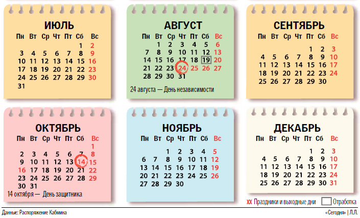 Календарь праздников на весь 2017 год: украинцы будут отдыхать почти месяц