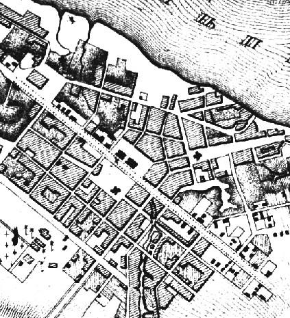 В 1850-х годах речку в центре Екатеринослава заключили в коллектор. Хорошо видно русло. Мифы и реальность: тайны днепровских подземелий