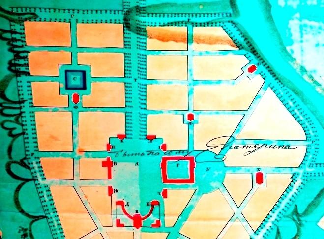 План 1792 г. Потемкинский бассейн - яма под буквой С Мифы и реальность: тайны днепровских подземелий