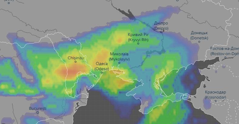 Прогноз выпадения осадков в ночь на 21-е апреля. В ночь с 20 на 21 апреля ожидается ухудшение погодных условий!