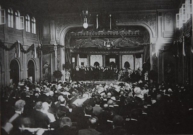 Торжественное собрание в Народной аудитории (архив Х.Сундгрен)