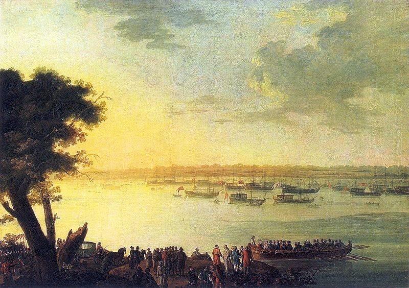 Флотилия Екатерины II на Днепре отплывает из Канева. Развенчание мифов: тайны основания Екатеринослава