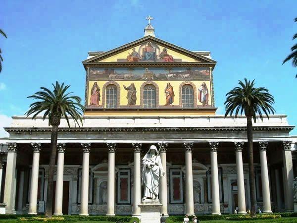 Базилика Сан Паоло в Риме - реальный прообраз Преображенского собора. Фасад Развенчание мифов: тайны основания Екатеринослава