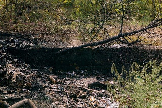 Пожар на Слобожанском под виадуком: горела свалка