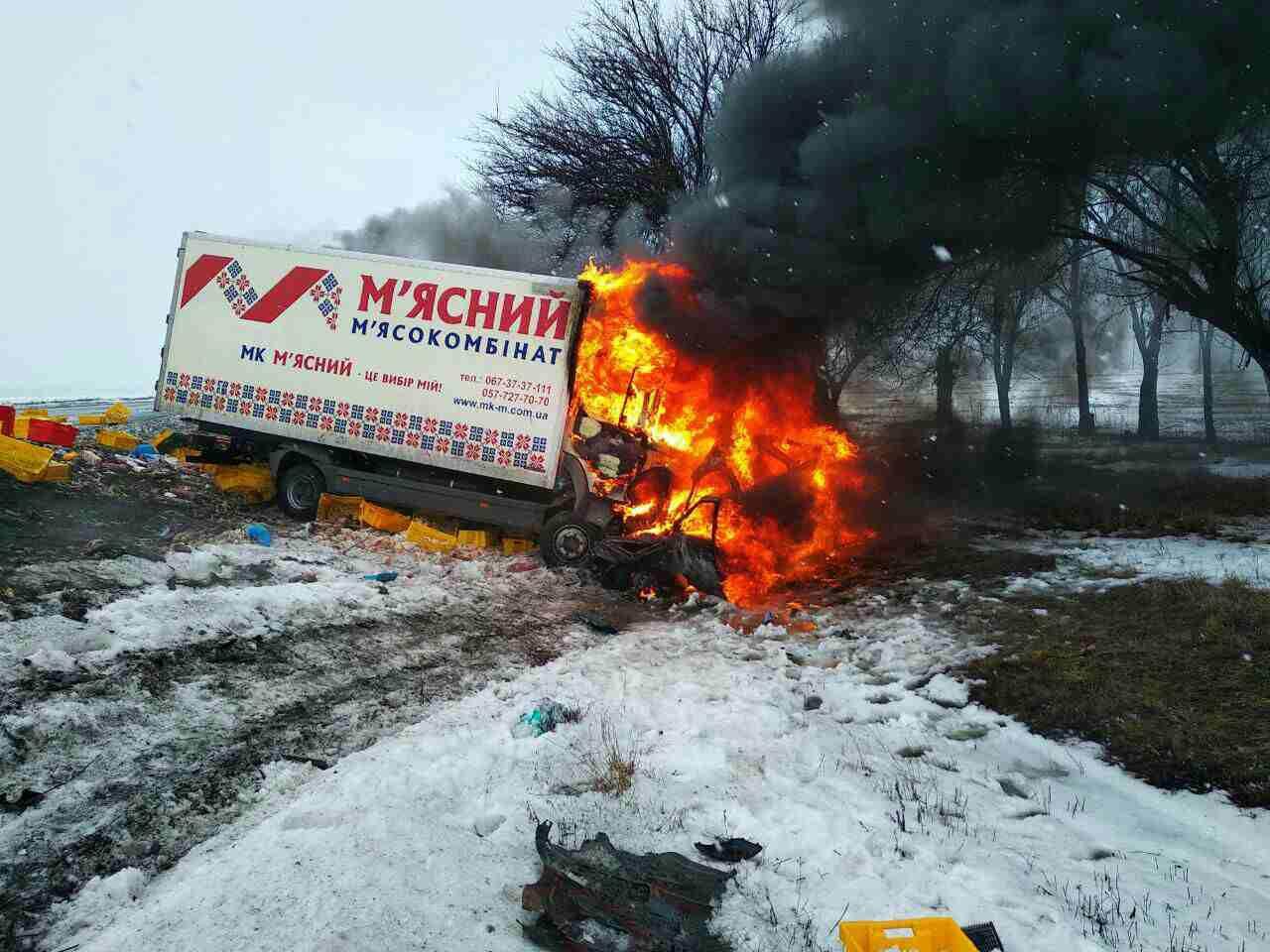 Трагедия на трассе: в результате ДТП с пожаром погибло 4 человека
