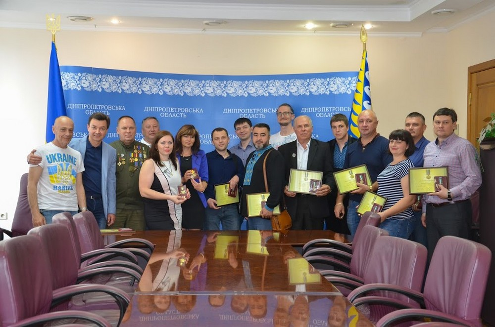 Волонтеры Днепропетровщины получили награды Президента Украины и Минобороны