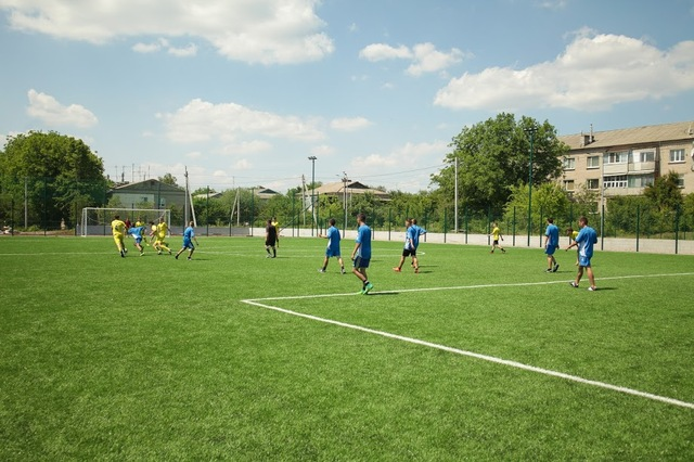 Рядом с реконструированной Солонянской школой – мощная спортивная база