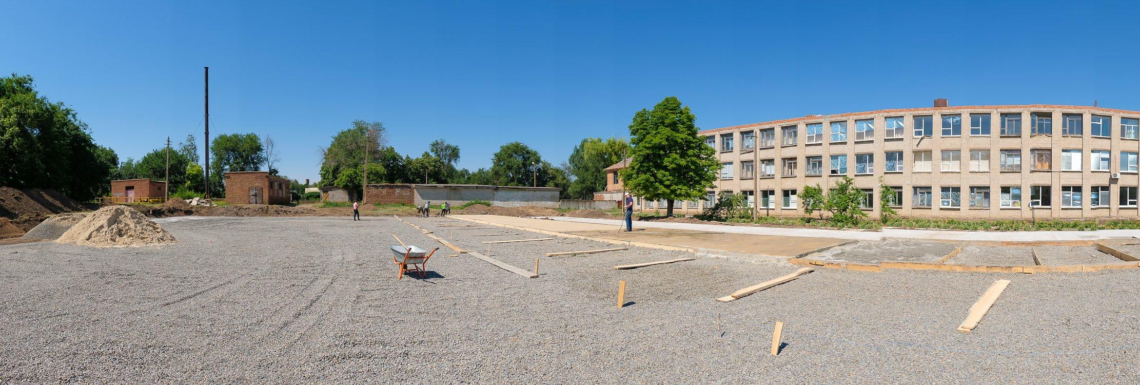 В Софиевской опорной школе создают современный стадион с искусственным покрытием