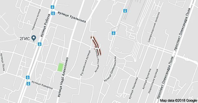 Земляничная улица на карте Днепра