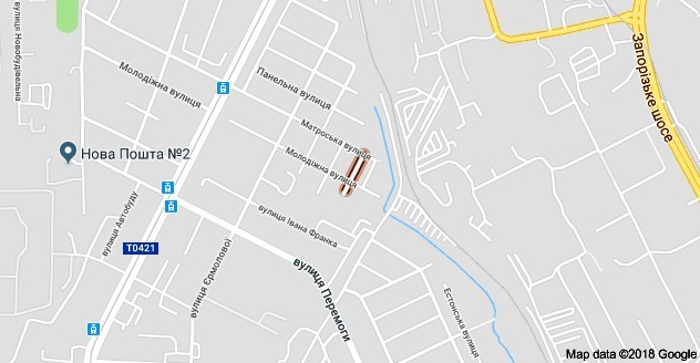 Грушевая улица на карте Днепра