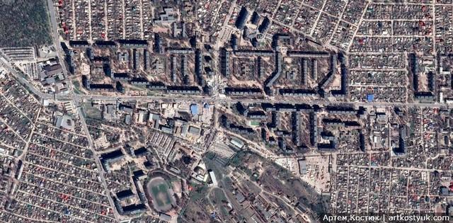 Калиновая улица из космоса