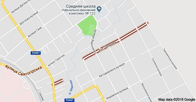 Улицы Июньская и Июльская на карте Днепра