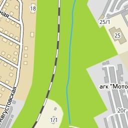Улица Августовская на карте Днепра