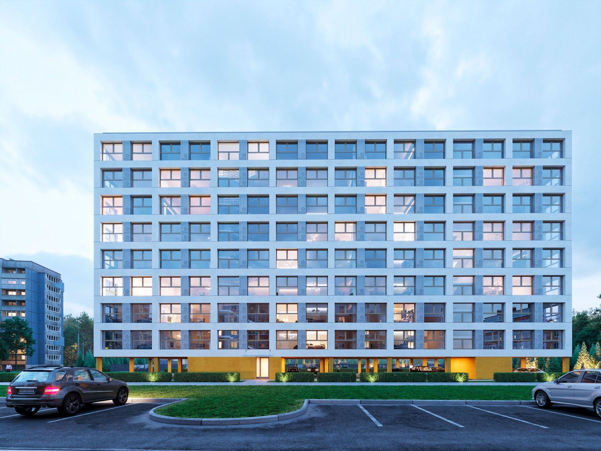 Яркая и почти прозрачная: в Днепре на Левобережном-3 появится многоэтажка