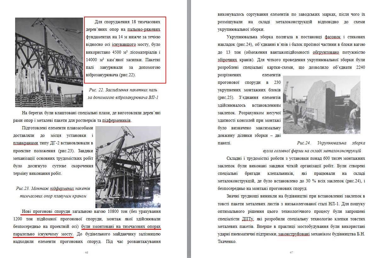 Выдержки из книги Виктории Дриго, где проясняется загадка остатков деревянных свай Тайны старых мостов Днепра