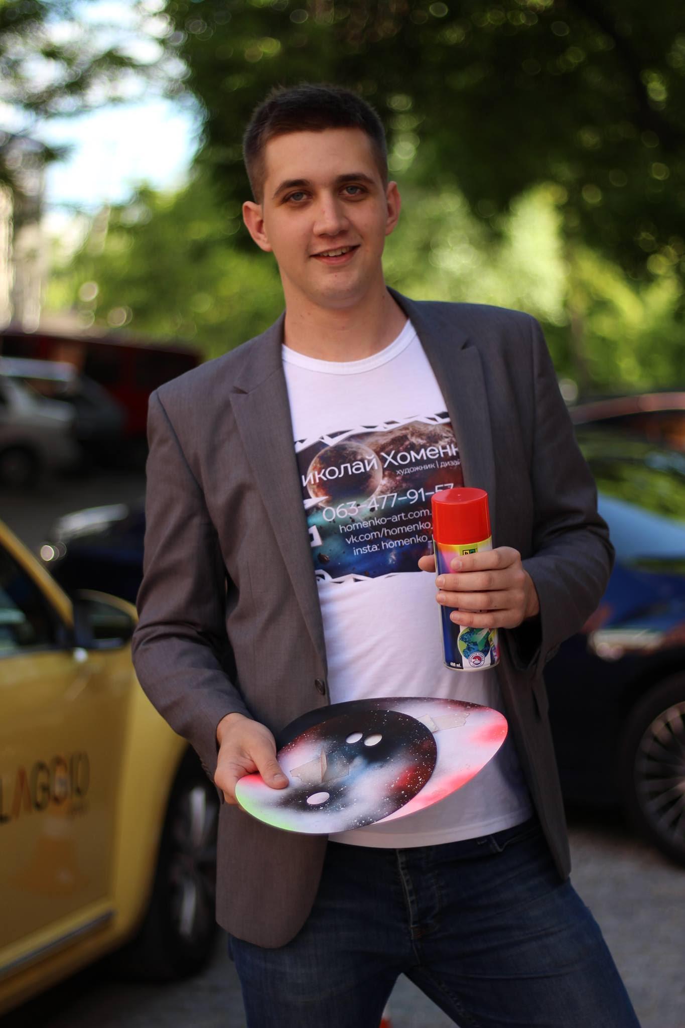 Креативный художник из Днепра вошел в Книгу рекордов Украины