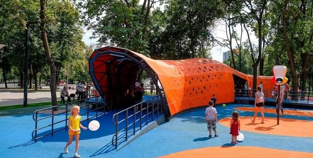 Первый в Украине инклюзивный парк в Днепре