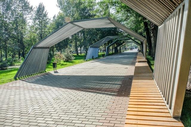 Реконструированный Центральный парк в Каменском