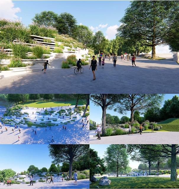 Проект «Ступени на склоне» в парке Шевченко Днепра.