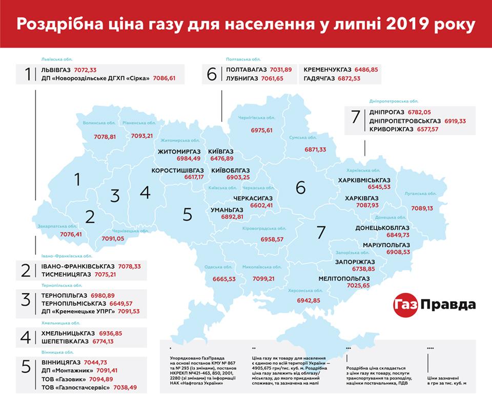 Кто заплатит за газ больше и меньше всех в Украине: появилась карта