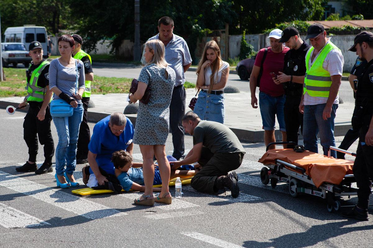 В Днепре на Набережной Победы Daewoo Lanos сбил 11-летнего мальчика