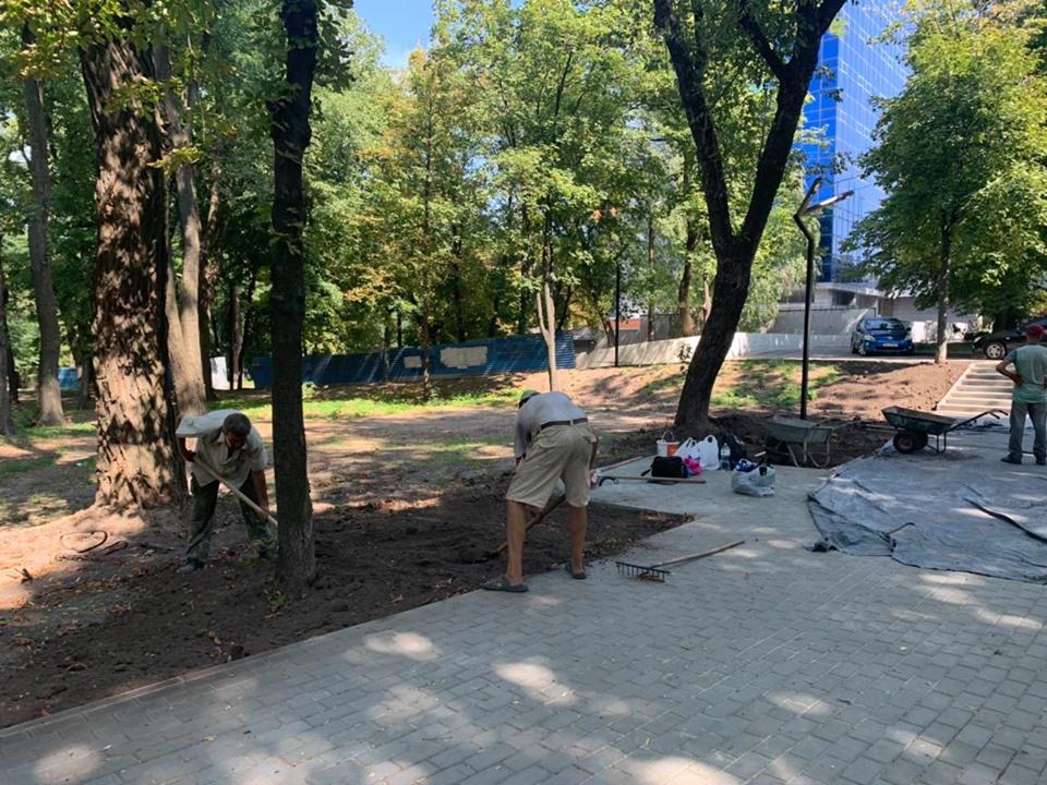 В Днепре продолжается реконструкция парка Гагарина