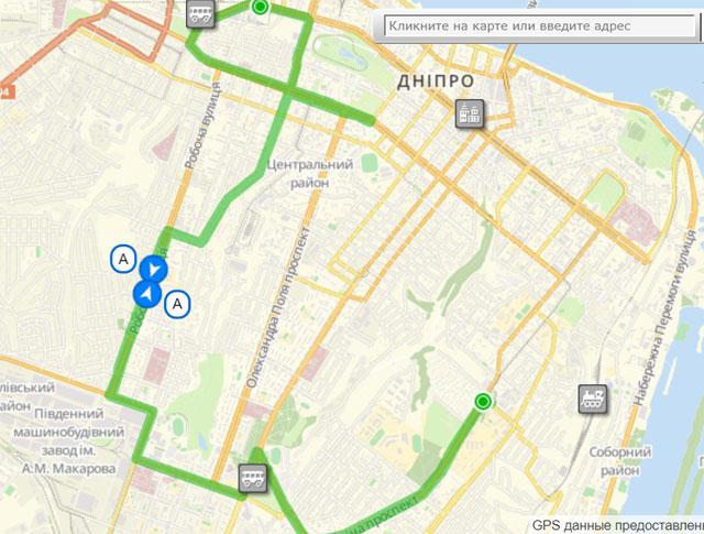 Троллейбусный маршрут А