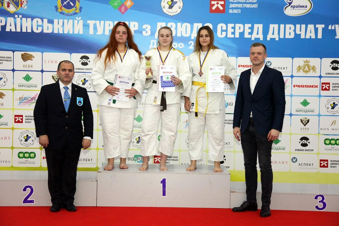 Дзюдоистки Днепропетровщины выиграли 14 медалей на «Украинке»