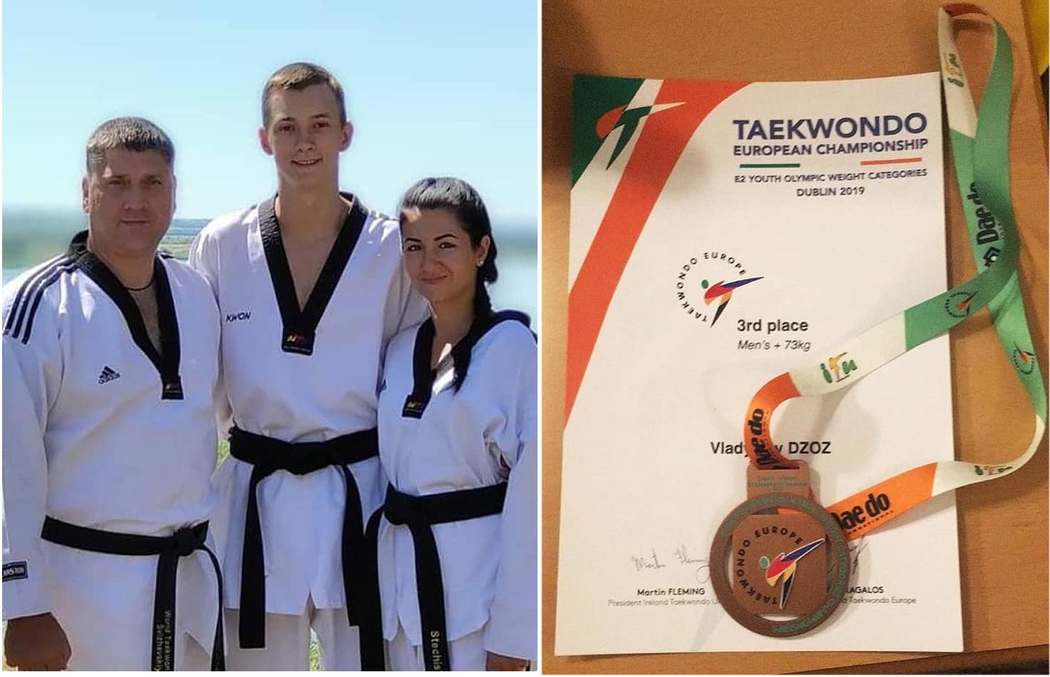 Каменчанин стал бронзовым призером чемпионата Европы по олимпийскому тхэквондо