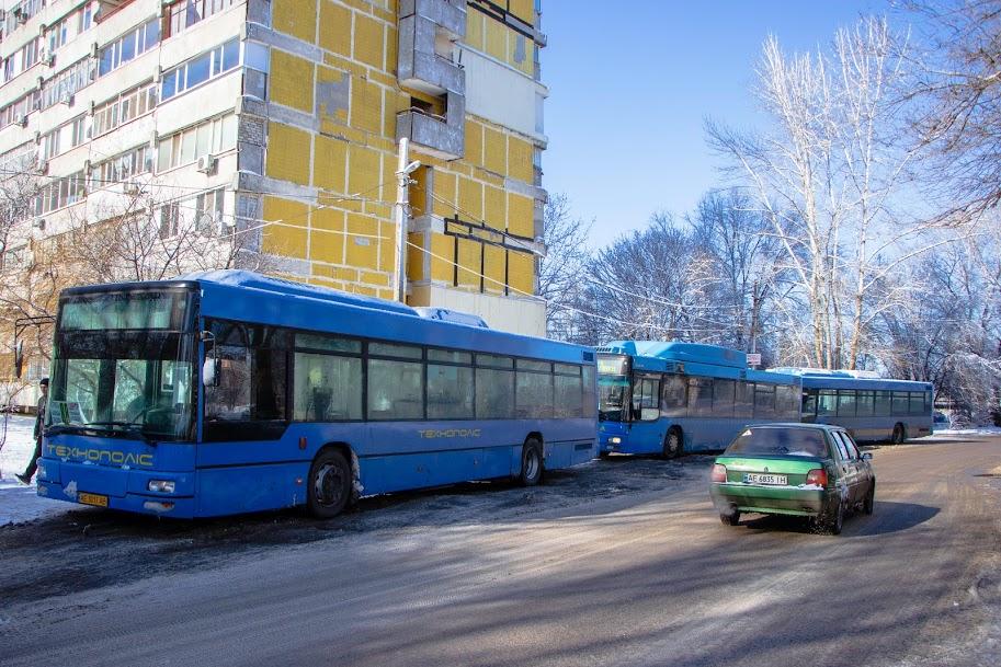 В Днепре усилили санитарную обработку городских автобусов
