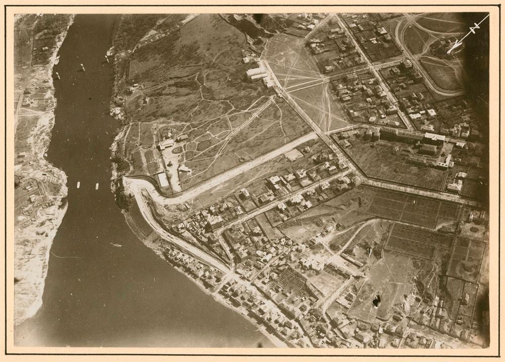 Потемкинский сад. Аэрофотосьемка 1918 г. Здесь летал Михаил Ефимов Первые авиаторы в Екатеринославе