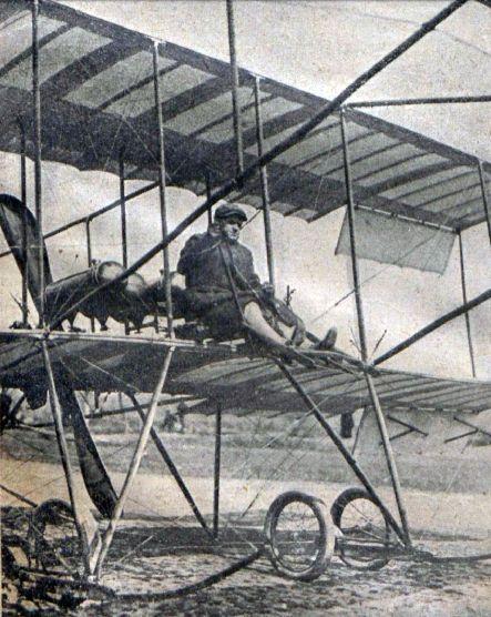 Сергей Уточкин на аэроплане. 1910 год Первые авиаторы в Екатеринославе