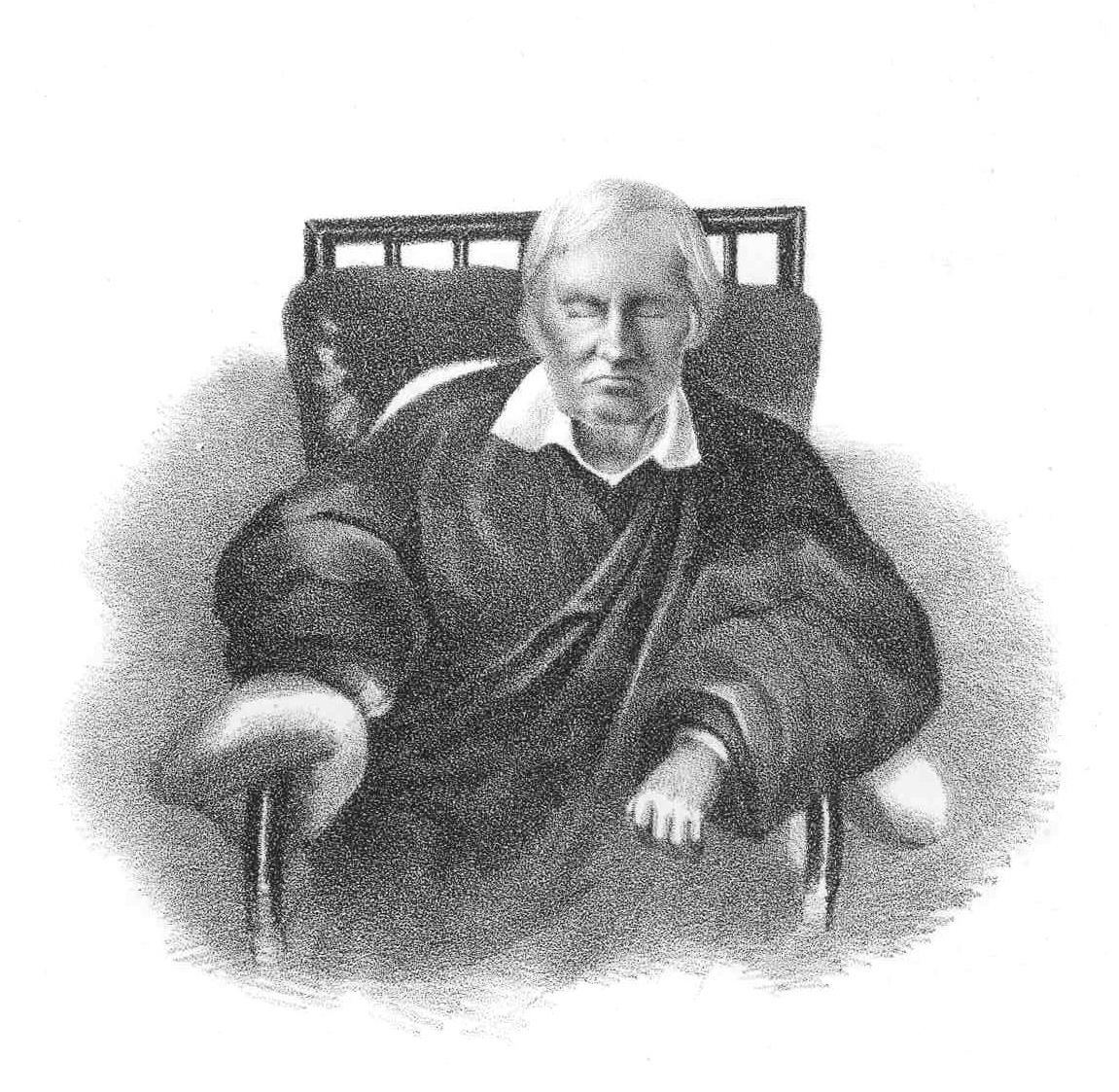 Дмитрий Мизко в старости. Гравюра середины 19 века Первой гимназии Днепра – 215 лет