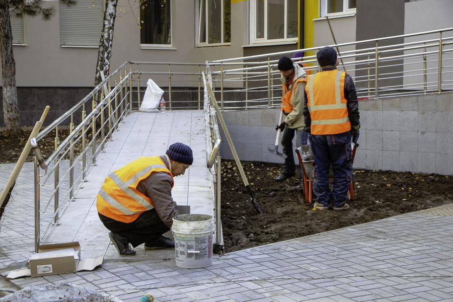 В Днепре завершают капитальный ремонт Левобережного управления социальной защиты