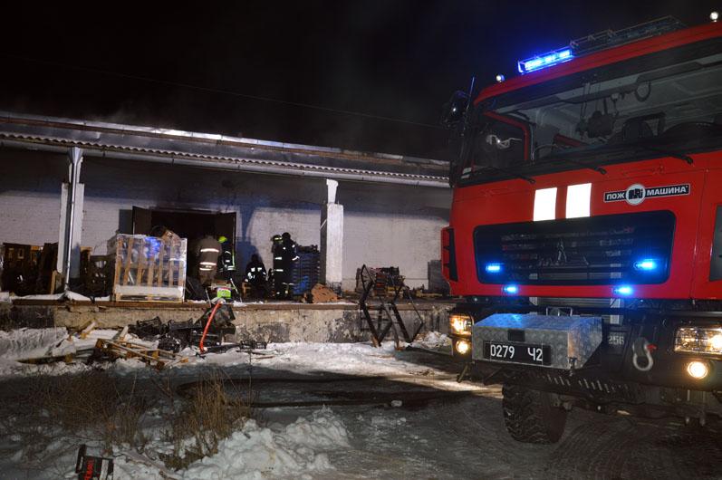 В Днепре на Богдана Хмельницкого горел склад