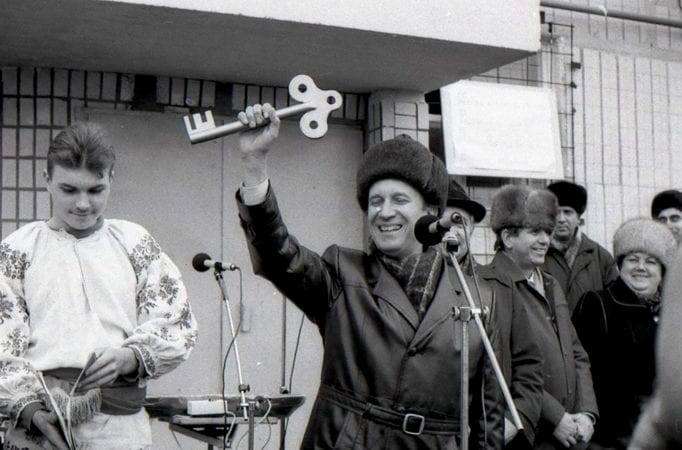 Новоселье на жилмассиве Красный Камень. 1990-е годы. Фото Владимира Рязанова Жилмассиву Красный Камень в Днепре – 50 лет!