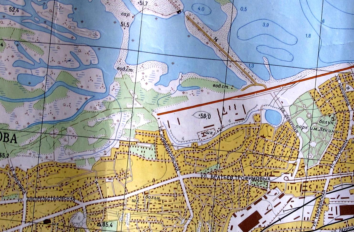 Перспективная зона застройки жилмассива. Карта начала 1970-х годов Жилмассиву Красный Камень в Днепре – 50 лет!