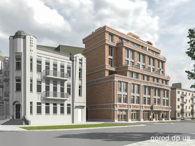 Такой комплекс планируют построить на ул. Челюскина, 10. Новости градсовета: Исторический квартал в центре Днепра ждут большие перемены