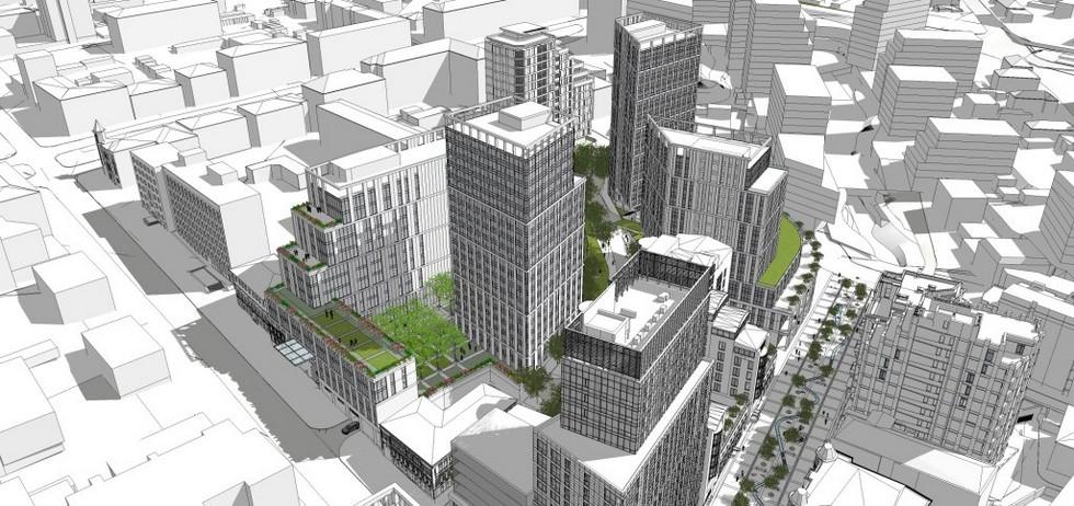 Общий вид квартала (проект). На градсовете рассмотрели перспективы самого «горячего» квартала города