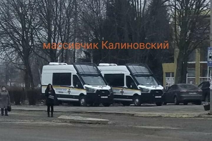 Фото: fb Юлия Шишка. На Калиновском много полиции: что случилось