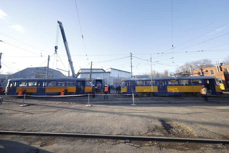 В Днепр прибыла очередная партия трамваев из Германии