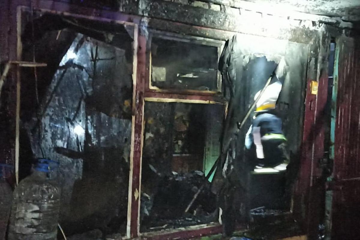 На Днепропетровщине в результате пожара пострадали двое детей