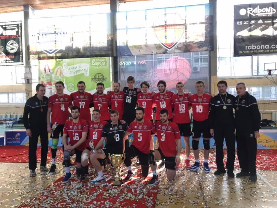 Днепровские волейболисты стали победителями чемпионата Украины