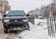 На проспекте Богдана Хмельницкого Mitsubishi снес дорожное ограждение