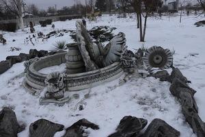 На Днепропетровщине вандалы разрушили парковый фонтан