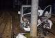 На Короленко Peugeot въехал в столб: пострадал мужчина
