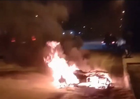 В Днепре на ходу загорелся мотоцикл